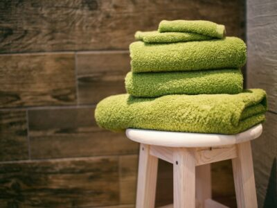 How to get mildew stains out of towels