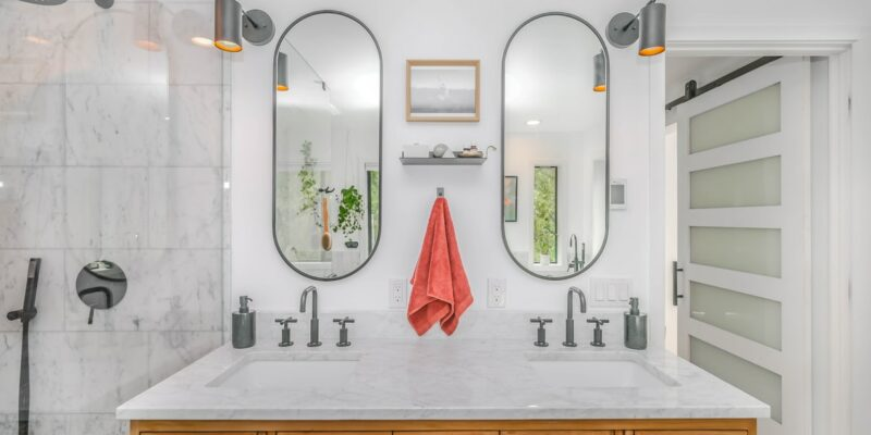 Should Bathroom Mirror Touch Backsplash?