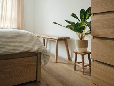 How to tone down orange wood floors