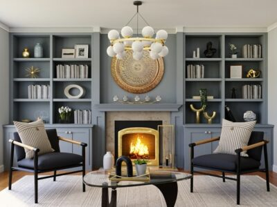 What to put on either side of a fireplace